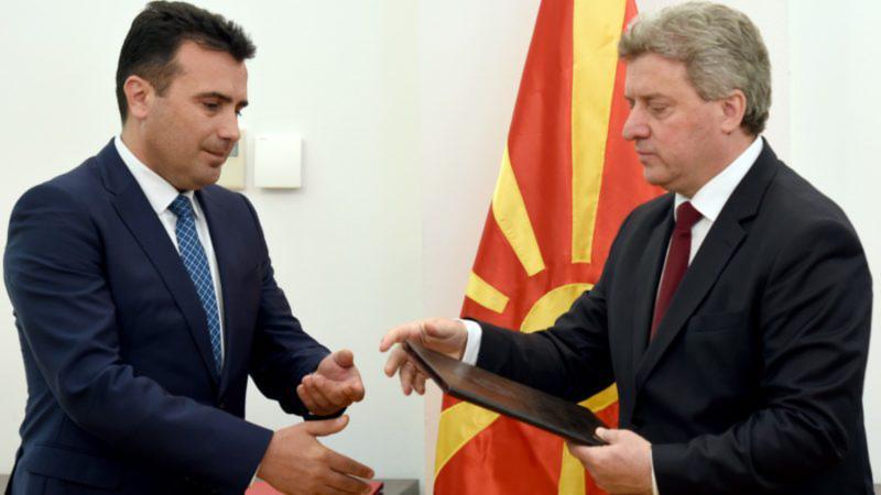 Macedonië: President bezwijkt onder internationale druk