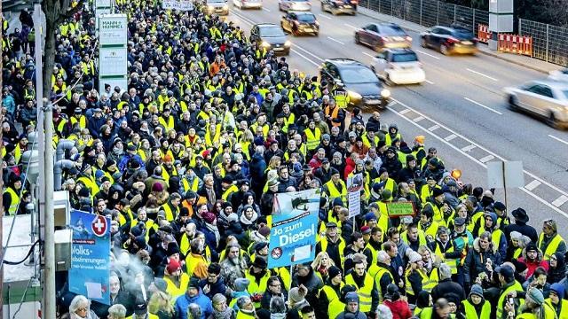 Gevolgen klimaatdoelen voor auto-industrie geven Gele Hesjes voet aan de grond in Duitsland