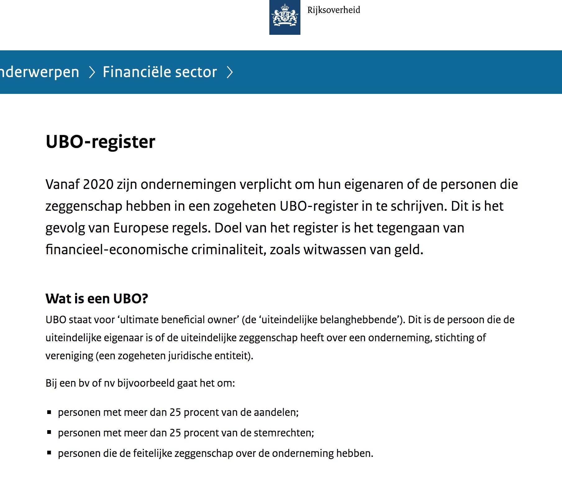 Gevraagd: UBO-informatie!