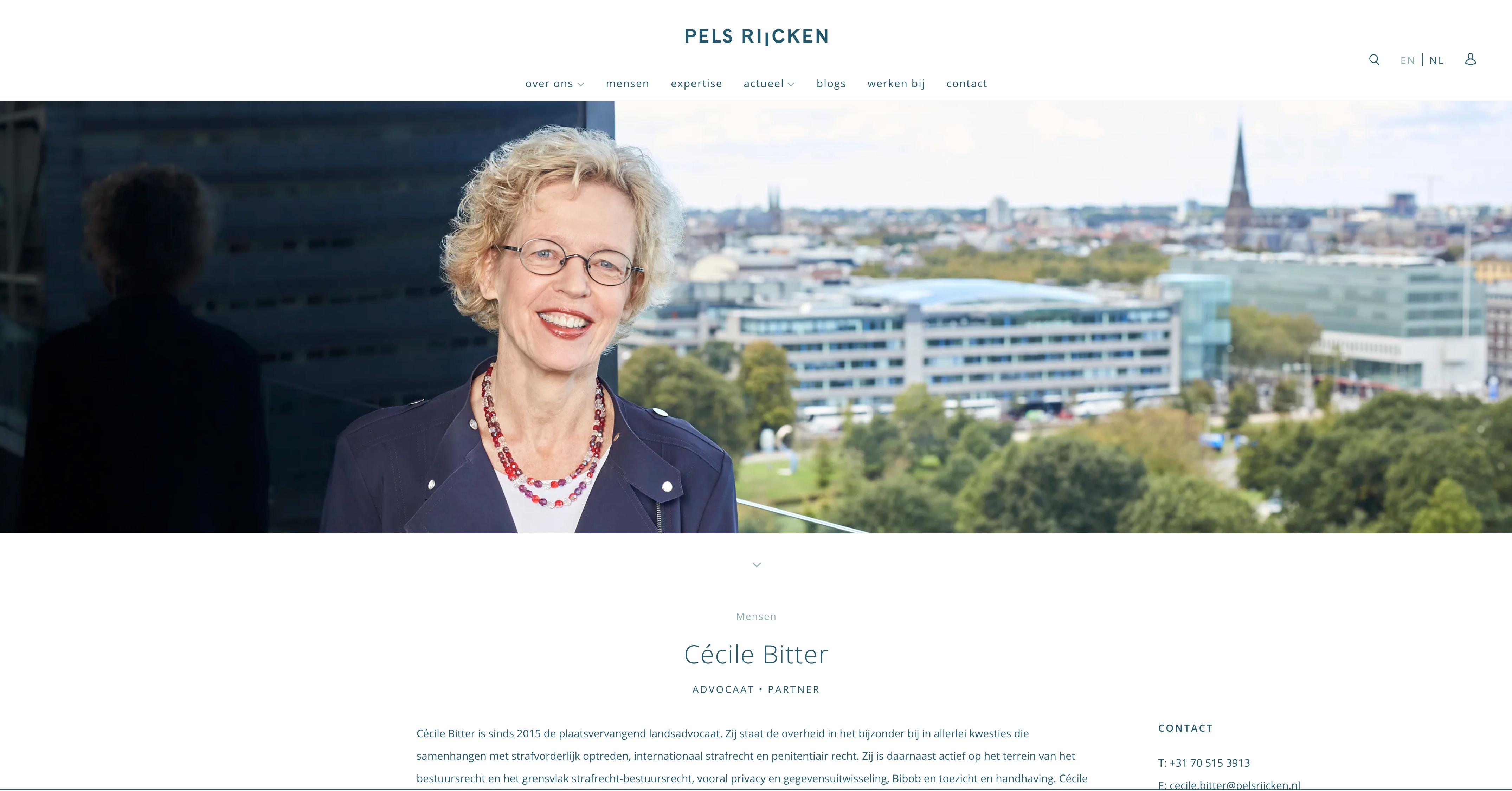 Paul van Buitenen: Landsadvocaat: Kantoor Pels – Rijcken
